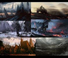 30 min Speedpaintings pack by daRoz