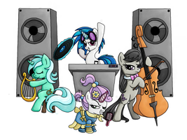 Musicians of Equestria by Rambopvp