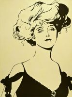 gibson girl by megarts17