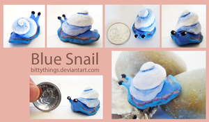 Blue Snail by Bittythings