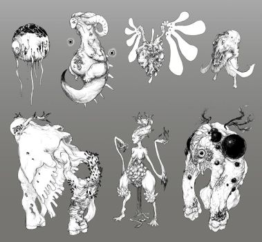 Infested Demon Sketches by ConceptualMachina