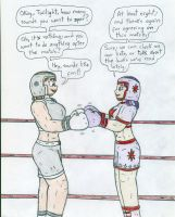 Boxing spar - Courtney and Human Twilight by Jose-Ramiro