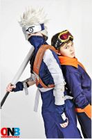 Kakashi Gaiden - Obito and Kakashi by Bullrichi