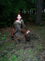 Elven Scout--Forest Clearing by celticbard76