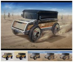 Cross country vehicle by Alexey-Starodumov