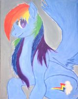 Rainbow Dash Painting by Websurger