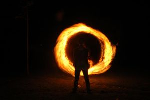 fire lightpaint session @ POLBAN #9 by personalstash