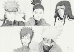 Naruto team 3 by JZ-Abarai