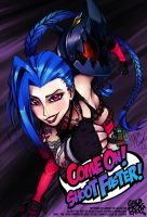 Jinx: Come on! Shoot Faster! by goldhedgehog