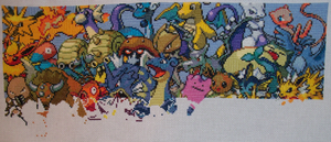 Pokemon Gen. 1 Cross Stitch 05 by lizardlea