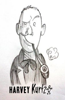 Sketch Portrait of Harvey Kurtzman by Big-Al-Son86