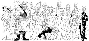 Superhero Group Shot by wonderfully-twisted