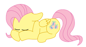 Sleeping Fluttershy by hellasexual