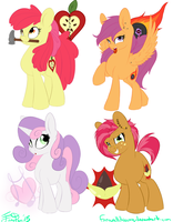 Cutie Mark Crusaders Grown-Up by FarewellDecency