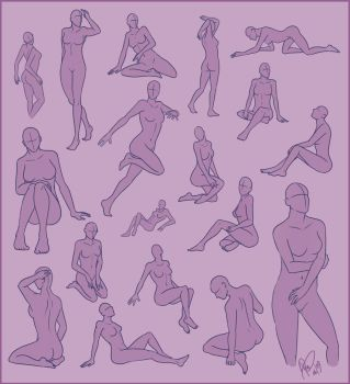 Poses - Female Sheet by Rosaka-Chan