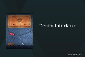 Denim Interface by thousandecibels