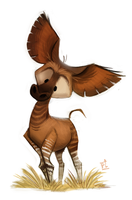 Day 739# Okapi by Cryptid-Creations