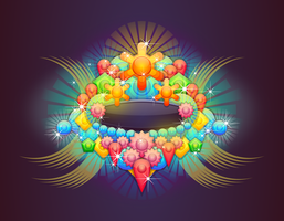 Badge With Abstract Background 3 by Viscious-Speed