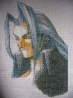 Sephiroth Cross-stitch by KirtyBird