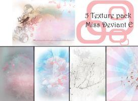 5 Pack of Textures by Miss-deviantE
