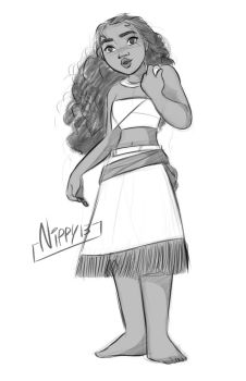 Moana sketch 02 by Nippy13