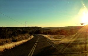 Hill Country Road Sunset by TheGerm84