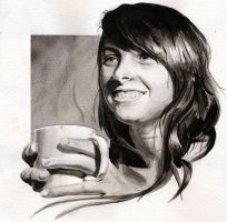 Drinking coffee by N0RM