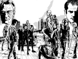 VS double page spread inks by Maxahiss