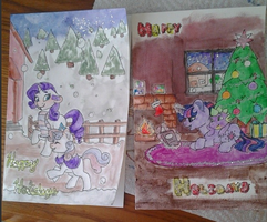 Holiday Cards 1 And 2 by woogieboboogie