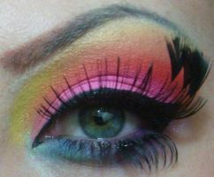 neon rainbow by munstermakeup