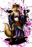 Hermeline the Vixen - Character design by sudro