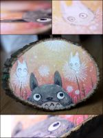 Totoro Dandelions by Flying-Fox