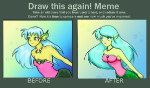 Before and After Aquatic Elf by shamira-g
