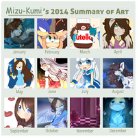 Art Summary - 2014 by Mizu-Kumi
