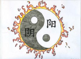 Yin Yang Tattoo Design by Chidori97