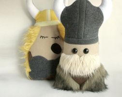 Stuffed Viking Pillow Plushie Doll by Saint-Angel