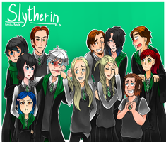 Hogwarts AU:Slytherin by Rainbow-Nebula