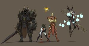 Baldur's Gate villains by Saindoo