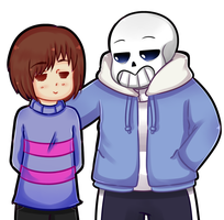 Undertale - Frisk and  Sans by Chile-LatinHetalia