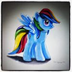 Rainbow Dash Toy Drawing by PencilRick