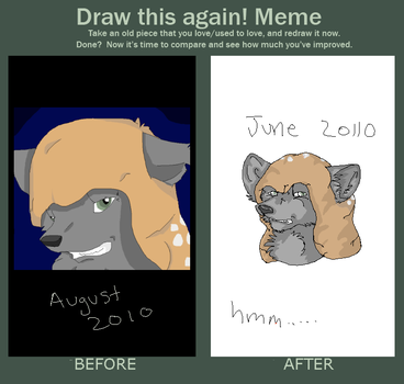 Draw it again meme by WolfTailDark