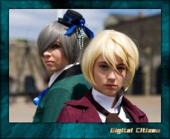 Ciel and Alois Duo Portrait by digitalcitizen