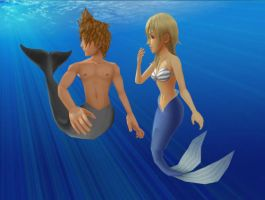 Roxas x Namine - Under The Sea by Kairime