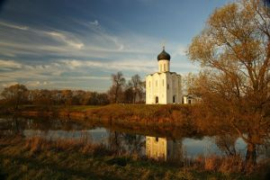 Landscape with the lonely church by Nickdan