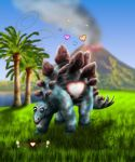 Little Hearts Stegosaurus by joereimer