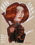 Jyn Erso Star Wars Rogue One by WarBrown
