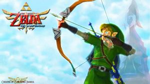 "TLOZ: Skyward Sword ""Bow Link"" by Gibarrar"