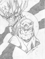 Galactus and Thanos by StevenSanchez
