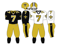 New Orleans Saints 1996-1998 Uniforms by Chenglor55