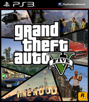 Grand Theft Auto V Cover Art 2 by SquizCat